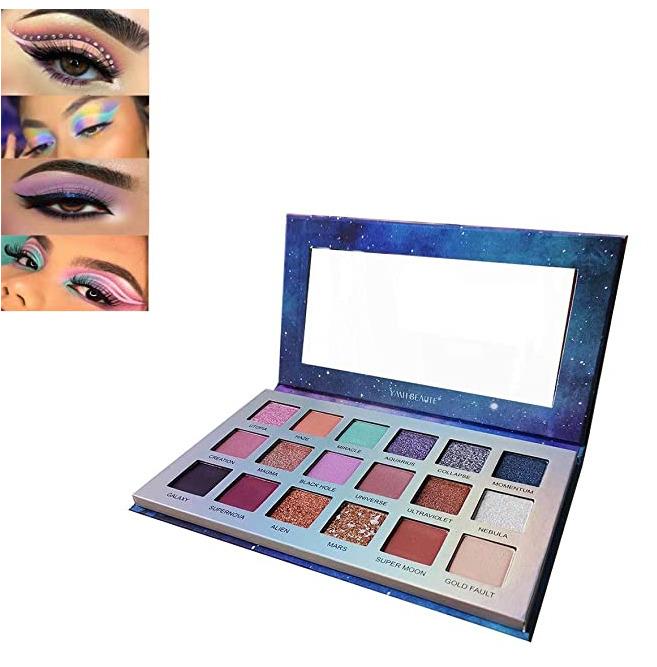 18 Colors Glitter Eyeshadow Palette